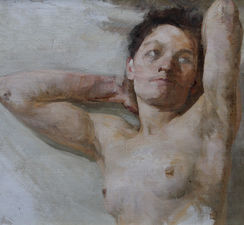 Jacob Kramer - Nude Woman Oil Painting -  Richard Taylor Fine Art