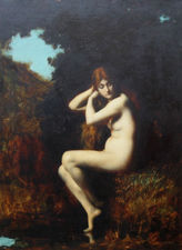 ../Nude in a Landscape by Jean Jacques Henner Richard Taylor Fine Art