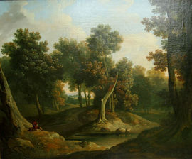 Wooded Landscape Irish Old Master oil by James Arthur O'Connor Richard Taylor Fine Art