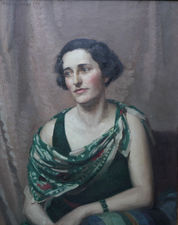 james barraclough art deco portrait of a lady - richard taylor fine art
