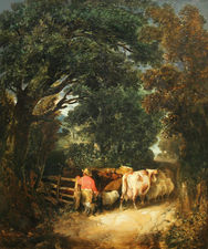 James Bateman Country Lane Going Home Richard Taylor Fine Art
