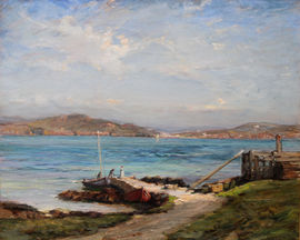 The Ferry Iona Scottish Impressionist Art by James Campbell Noble Richard Taylor Fine Art