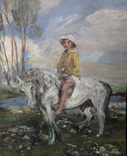../Artist's Grandson On Pony by James Jebusa Shannon Richard Taylor Fine Art