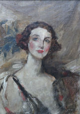 ../British Impressionist female portrait by James Jebusa Shannon  Richard Taylor Fine Art
