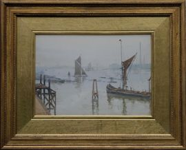 Thames at Greenwich by Scottish Glasgow Boy James Paterson at Richard Taylor Fine Art