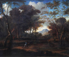 Wooded Landscape with Diana Hunting by Jean Francois I Millet Richard Taylor Fine Art