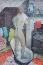 Tin Bath Post Impressionist Nude by Jean Young Richard Taylor Fine Art
