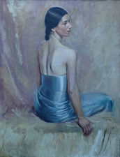 British Art Deco Portrait by John Cecil Stephenson Richard Taylor Fine Art