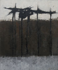 ../Dark Trees Abstract Expressionist by John Scott Richard Taylor Fine Art