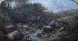 Victorian British River Landscape by John Brandon Smith Richard Taylor Fine Art