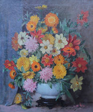 john e aiken scottish floral display -richard taylor fine art (1)