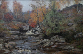 john henderson - autumn in glenn - richard taylor fine art (1)