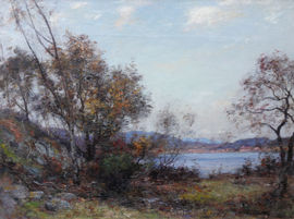 john henderson  - scottish wooded landscape - richard taylor fine art (1)
