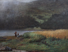 ../Misty Loch Landscape by Joseph Henderson at Richard Taylor Fine Art