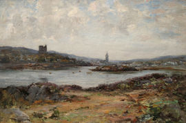 joseph morris henderson - scottish - kirk tabert castle - richard taylor fine art