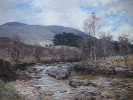 Moorland Stream Stirling by Joseph Morris Henderson Richard Taylor Fine Art