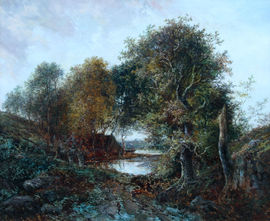 Solitude Westphalia Germany Landscape oil painting by Joseph Thors Richard Taylor Fine Art