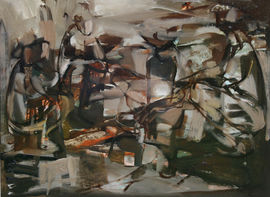 Campfire Australian Abstract landscape by Judy Cassab  Richard Taylor Fine Art