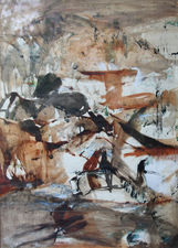 Exhibited Australian Abstract Landscape by Judy Cassab Richard Taylor Fine Art