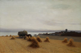../Victorian Harvest Coastal Landscape by Leopold Rivers Richard Taylor Fine Art
