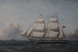 Victorian Marine Sailship in Full Rig by Reuben Chappell Richard Taylor Fine Art