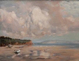 Coastal Landscape by Louis Burleigh Bruhl Richard Taylor Fine Art