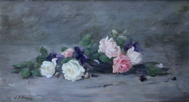 Scottish Edwardian Floral by Louise Ellen Perman Richard Taylor Fine Art