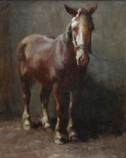 lucy kemp welch circle horse - british oil painting  richard taylor fine art