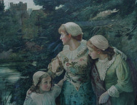 Victorian Pre-Raphaelite Watercolour by Marcella Walker Richard Taylor Fine Art