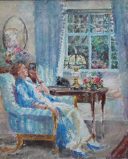 Margaret Fisher Prout - A Summer Evening - Richard Taylor Fine Art)