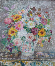 Post Impressionist 1930's Floral Margaret Fisher Prout Richard Taylor Fine Art
