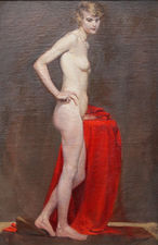 Twenties Female Nude Portrait by Margaret Maitland Howard Richard Taylor Fine Art