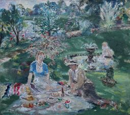 ../Margaret Fisher Prout (1875-1963) The Garden Picnic - Richard Taylor Fine Art