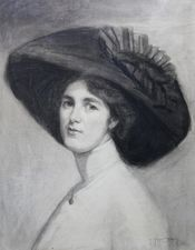 Portrait of Actress Decima Moore by Maria Cowell Richard Taylor Fine Art