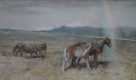 nathanial john hughes baird - scottish horses - richard taylor fine art