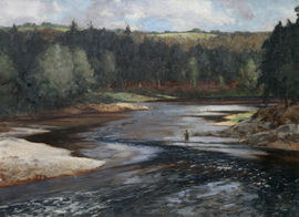 River Landscape Upper Spey Scotland by Norman Wilkinson Richard Taylor Fine Art