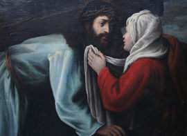 ../St Veronica Wiping the Face of Christ by Old Master Richard Taylor Fine Art