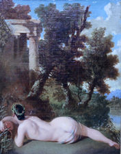 Nude in an Arcadian Landscape by Issac Moucheron Richard Taylor Fine Art