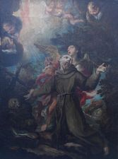 ../The Temptation of St Francis Dutch/Spanish oil Old Master Richard Taylor Fine Art