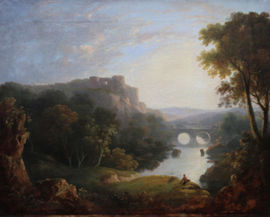 Capriccio Landscape by Scottish Old Master Alexander Nasmyth Richard Taylor Fine Art