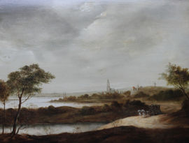 ../Carriage in Landscape outside Utrecht by Jan Van Goyen Richard Taylor Fine Art