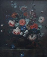 old master dutch  - floral roses 17th century - richard taylor fine art