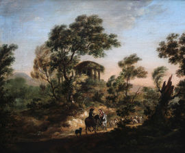 Moving the Flock by circle of Thomas Gainsborough Richard Taylor Fine Art