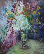 Pauline Glass Floral Bouquet Richard Taylor Fine Art