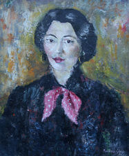 Post Impressionist Portrait of a French Lady by Pauline Glass Richard Taylor Fine Art