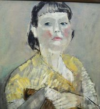 Portrait of Lady in Yellow by Pauline Glass Richard Taylor Fine Art