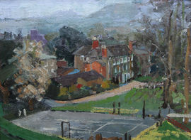 Hamme House Impressionist oil by Percy Horton Richard Taylor Fine Art