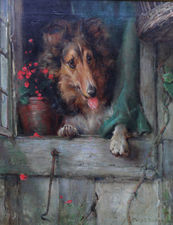 British 19th Century Collie Dog by Philip Eustace Stretton Richard Taylor Fine Art