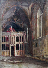 ../Church Interior Amiens France by Philip F Walker Richard Taylor Fine Art