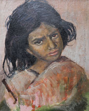 Young Girl with Shawl by Philip Naviasky Richard Taylor Fine Art